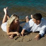 Couple on the beach — Stock Photo #3475340