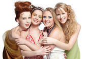 Quatro belas garotas — Fotografia Stock
