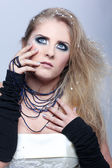 Blond tjej — Stockfoto