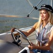 Stock Photo: Beautiful blonde captain
