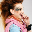 Stock Photo: Glam punk girl