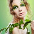 Beautiful dryad girl - Stock Photo