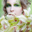 Beautiful dryad girl — Foto de stock #3484403