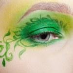 Closeup of eyezone bodyart — Stock Photo