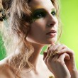 Stock Photo: Beautiful dryad girl