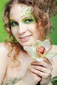 Beautiful dryad girl — Stock Photo
