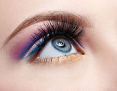 Girl's eyezone make up — Stock Photo