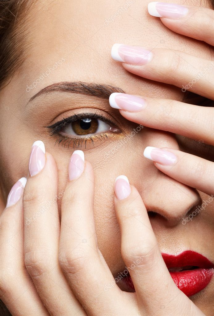 Картинки красивого макияжа и маникюра