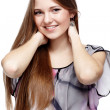 Beautiful european girl — Stock Photo