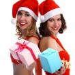 Girls with presents — Stockfoto