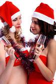 Celebrando la navidad — Foto de Stock