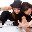 Royalty-Free Stock Photo: Two beautiful girls breakdancers