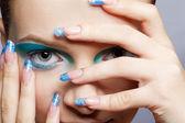 Girl's make-up close-up — Stock Photo