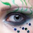 Girl's eye zone bodyart — Stock Photo