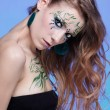 Stock Photo: Girl with bodyart