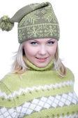 Meisje in warme kleren — Stockfoto