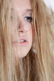 Beautiful melancholic blonde — Stock Photo