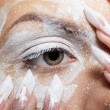 Stock Photo: Girl's eye-zone bodyart