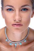 Model v náhrdelník — Stock fotografie