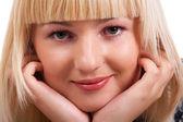 Blond meisje — Stockfoto