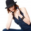 Woman with hat — Stock Photo #4101701