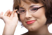 Model in glasses — Stock Photo