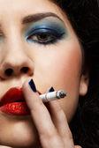 Smoking girl — Stock Photo