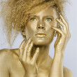 Golden girl — Stock Photo
