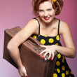 Royalty-Free Stock Photo: Pin-up girl with luggage