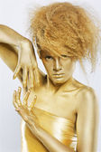 Golden girl — Stock Photo
