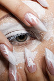 Girl's eye-zone bodyart — Stock Photo