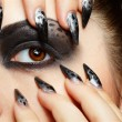 Girl's eye-zone bodyart — Stock Photo