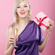 Blonde party girl — Stock Photo #4256073