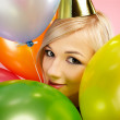 Blonde party girl — Stock Photo