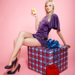 Blonde party girl — Stock Photo #4256118