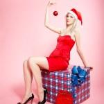 Blonde xmas girl — Stock Photo #4256187