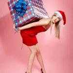 クリスマス プレゼント女の子 — ストック写真 #4256214