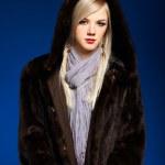 Blonde girl in furs — Stock Photo #4256260