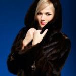 Blonde girl in furs — Stock Photo #4256273