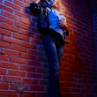 Blonde girl glam rocker — Stock Photo #4256711