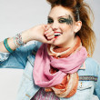 glam punk girl — Stock fotografie