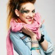 glam punk ragazza — Foto Stock