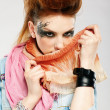 Foto de Stock  : Glam punk girl