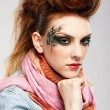 Glam punk girl — Stockfoto