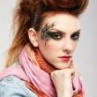 Glam punk kız — Stok fotoğraf