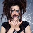 Spider girl — Stock Photo