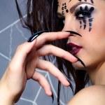 Spider girl — Stock Photo