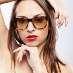 Girl in sun glasses — Stock Photo