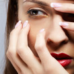 Girl's eye-zone make-up — Stock Photo #4325640