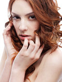 Beautiful freckled girl — Stock Photo